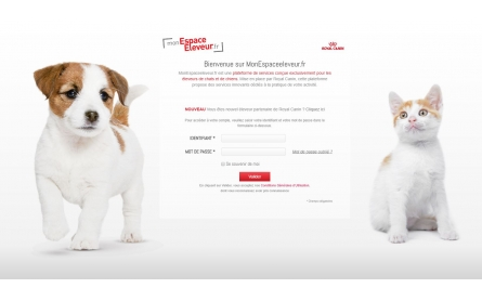 """Royal Canin  - Plateforme  """"Mon Espace Eleveur"""""""