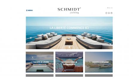 Site internet Schmidt Yachting